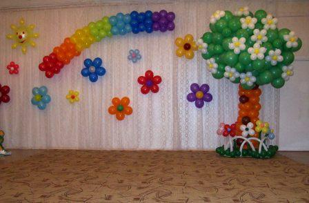 декорация с балони