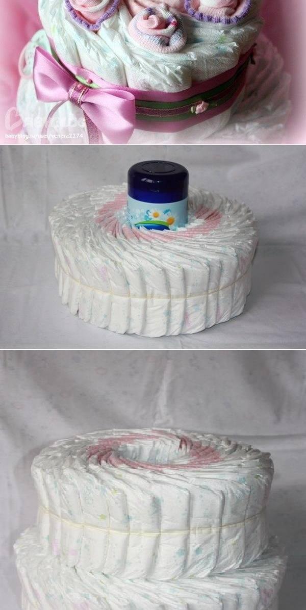 ето как се прави торта от памперси