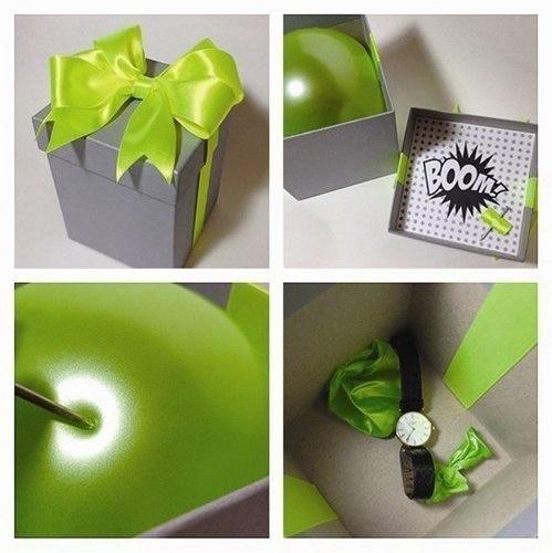 подарък изненада с балон