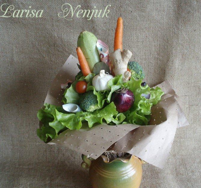 букет от зеленчуц