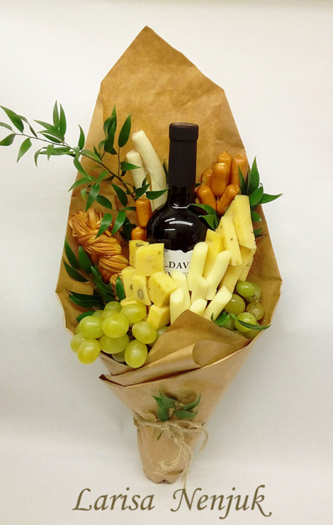 подарък вино и мезе